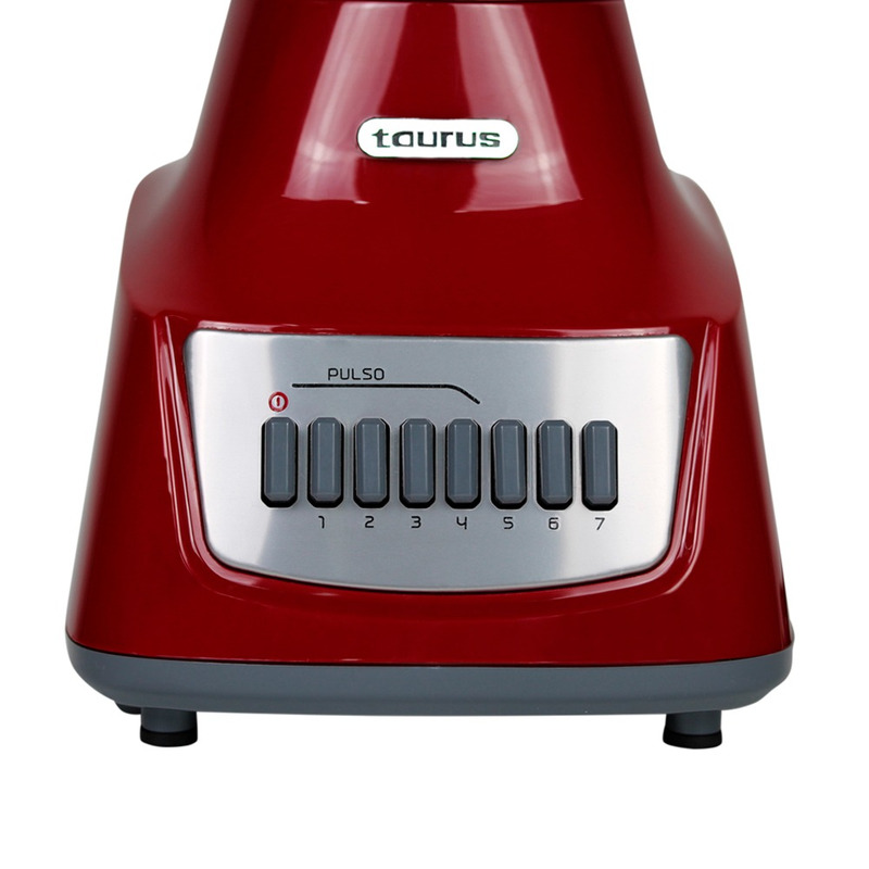Licuadora Taurus 7 vel gris/rojo v/vidrio  317348