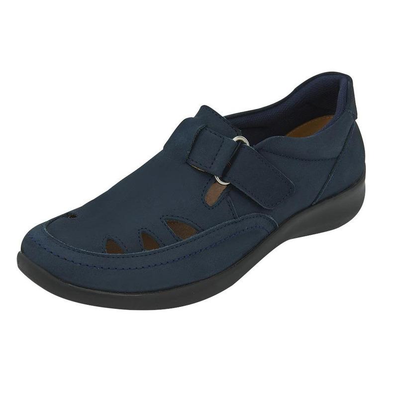 Sneakers Azul Marino Con Broche 020486
