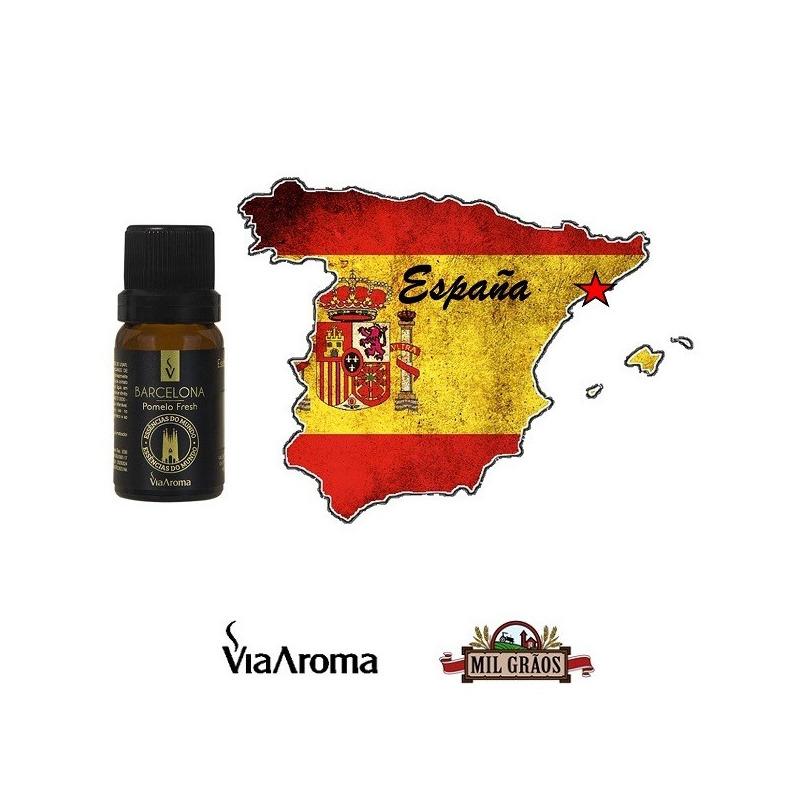 Essencia Cidades Mundo Barcelona Pomelo Fresh 10ml Via Aroma
