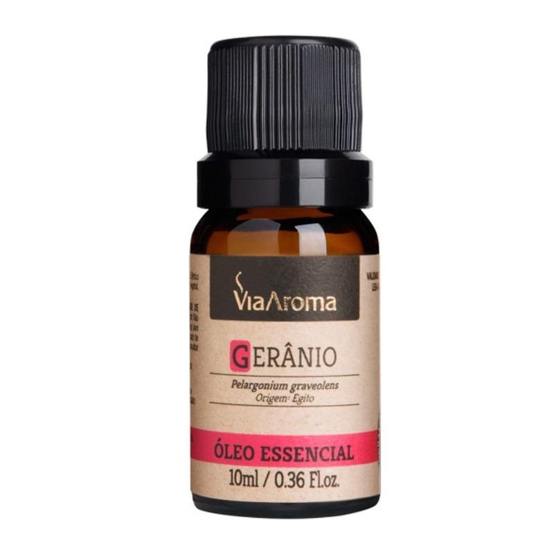 Oleo Essencial de Geranio - 10ml - Via Aroma
