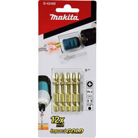 Kit de Bits de Torção Phillips PH2 c/Adaptador Imantado - B-42488 - Makita
