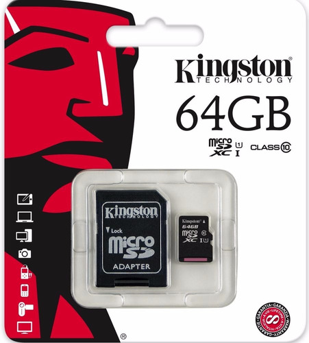 Memoria Microsd Xc 64gb Micro Sd Xc Kingston Clase 10 U1