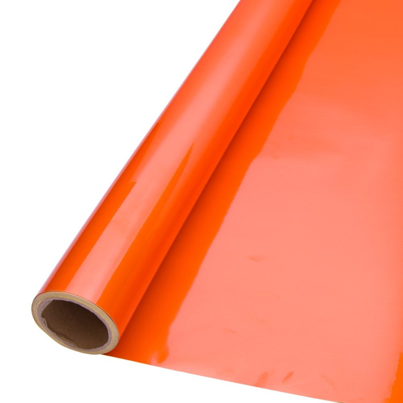 Vinil adesivo refletivo laranja (grau comercial) larg. 1,24 m