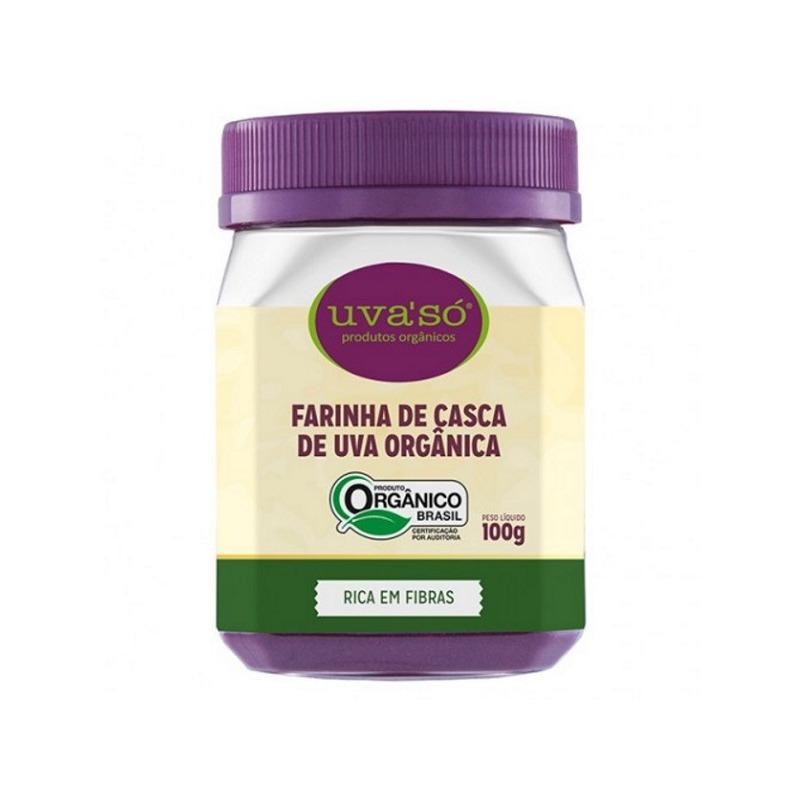 Farinha de Casca de Uva Organica - 100g - Uva So