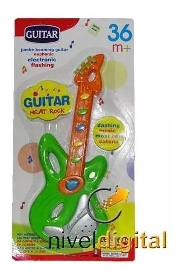 Guitarra Juguete Musical 6 Melodias 29 Cm. Niño Niña
