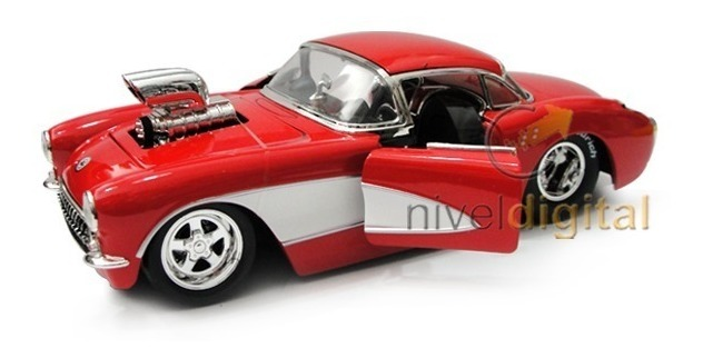Auto Replica 1957 Chevy Corvette Die Cast Jada 1:24 Caja