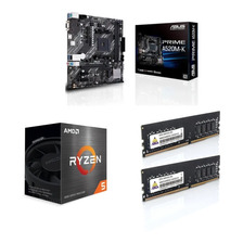 COMBO ACTUALIZACION RYZEN 5 5600G + ASUS A520M-K + 2 X 8GB