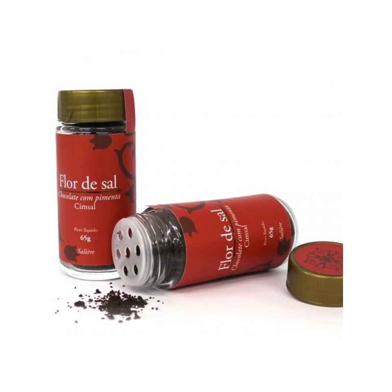 Flor de Sal com Chocolate com Pimenta - 65g - Cimsal