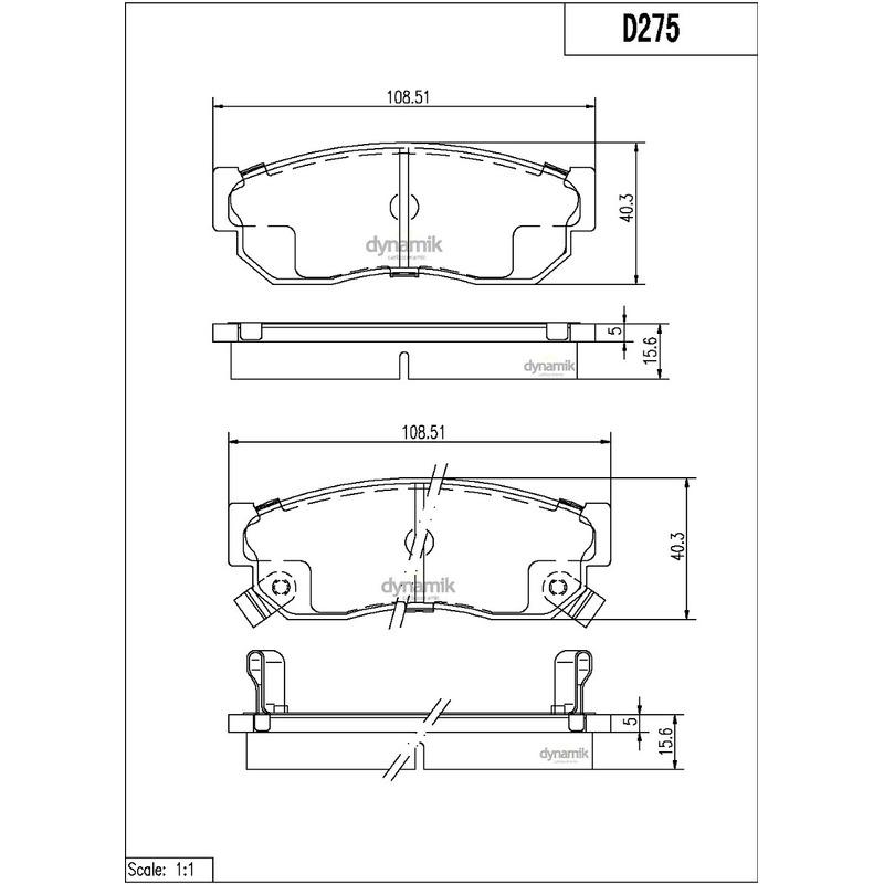 Balata Delantera Nissan:Sakura,Sentra,Tsuru,Hikari  Dynamik S7155D275