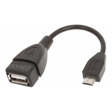 Cable Adaptador Otg Micro Usb Macho A Usb Hembra