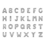 globo letras plateadas 17 cms de alto sin inflar