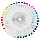 Alfinetes Cabeça Bola Colorido - 120 Pçs