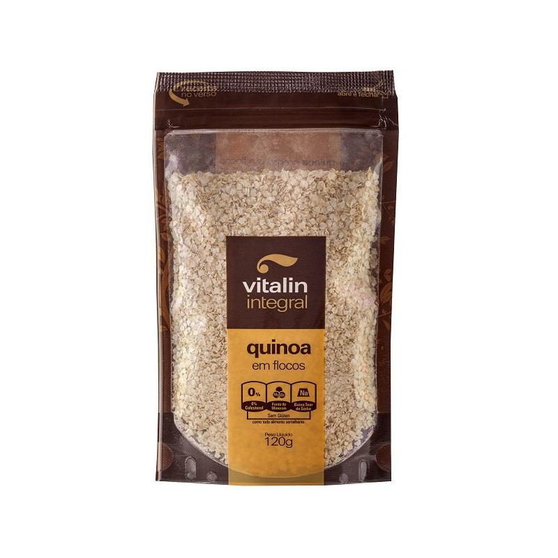Quinoa em Flocos Integral - 120g - Vitalin