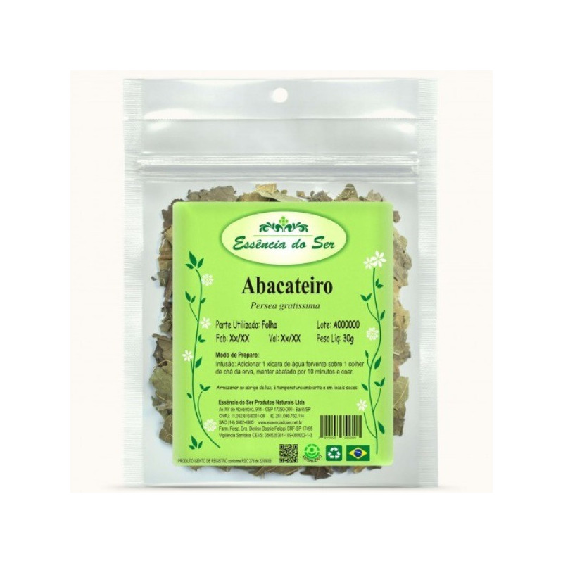 Cha de Abacateiro - Kit 2 x 30g - Essencia do Ser