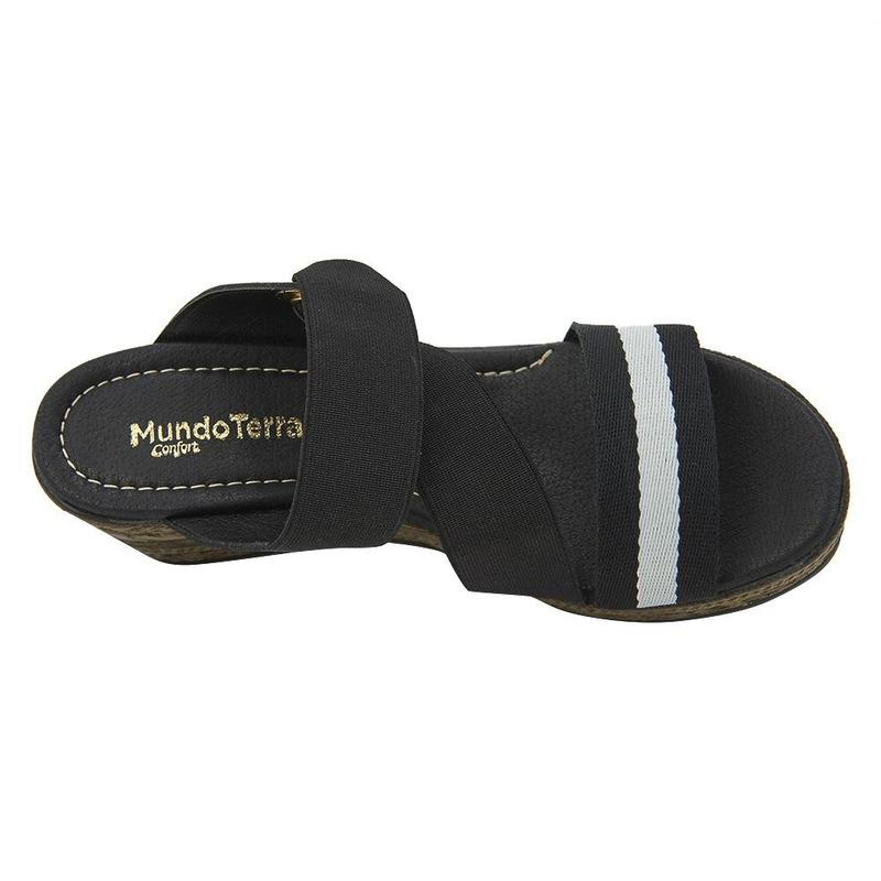 Sandalia De Plataforma Negra 020973