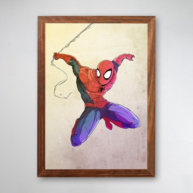 PÔSTER COM MOLDURA - SPIDER MAN