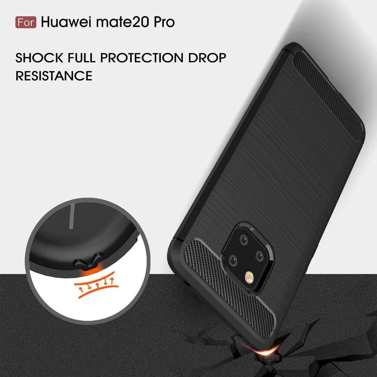 Funda Tpu Simil Carbono Huawei Mate 20 Lite Pro Rugger Armor