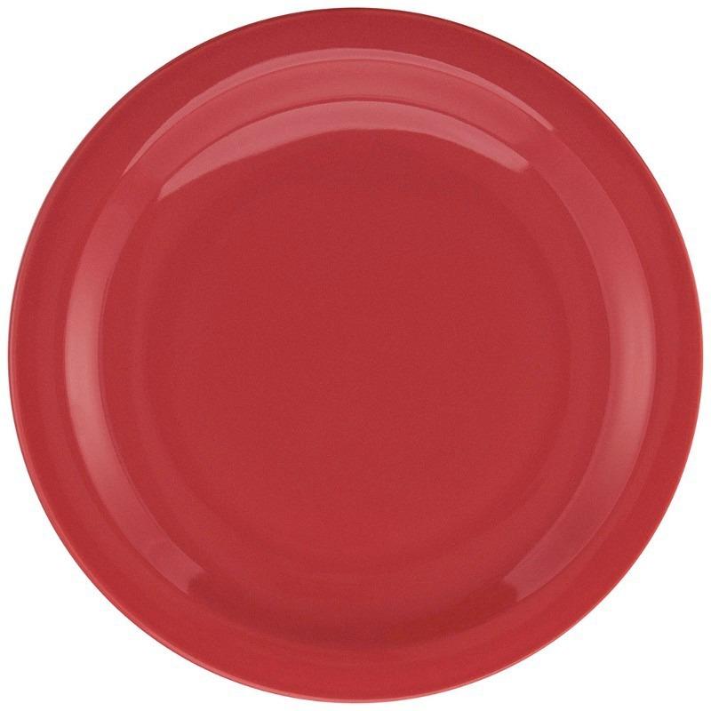 Juego Vajilla 18 Piezas Ceramica Oxford Rojo Platos