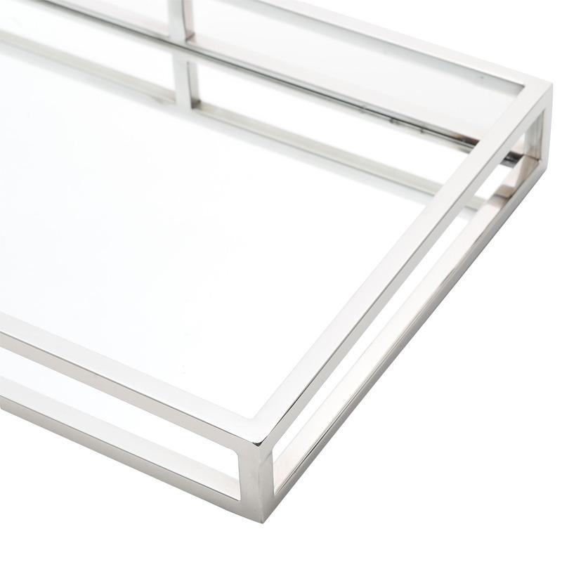 Bandeja Mirror Com Fundo De Espelho 41X26Cm - Wolff 3103664