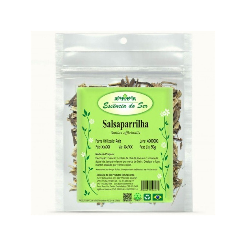 Cha de Salsaparrilha - 50g - Essencia do Ser