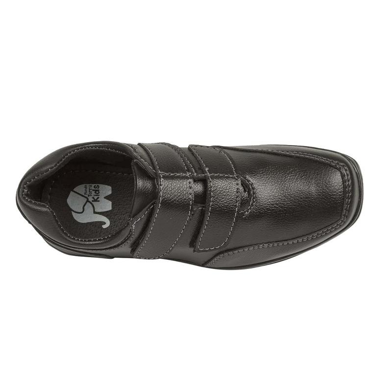 Mocasín negro con correas 018791