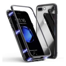 Funda Magnetica Metalica iPhone 7 8 Plus Xs Max Xr +glass 5d