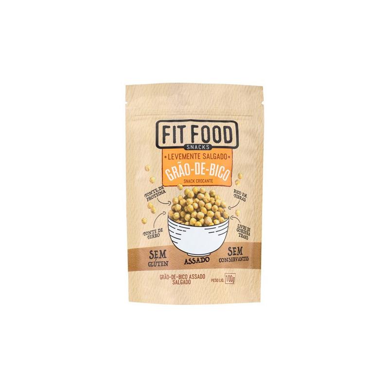 Snack de Grão de Bico Levemente Salgado - 100g - Fit Food