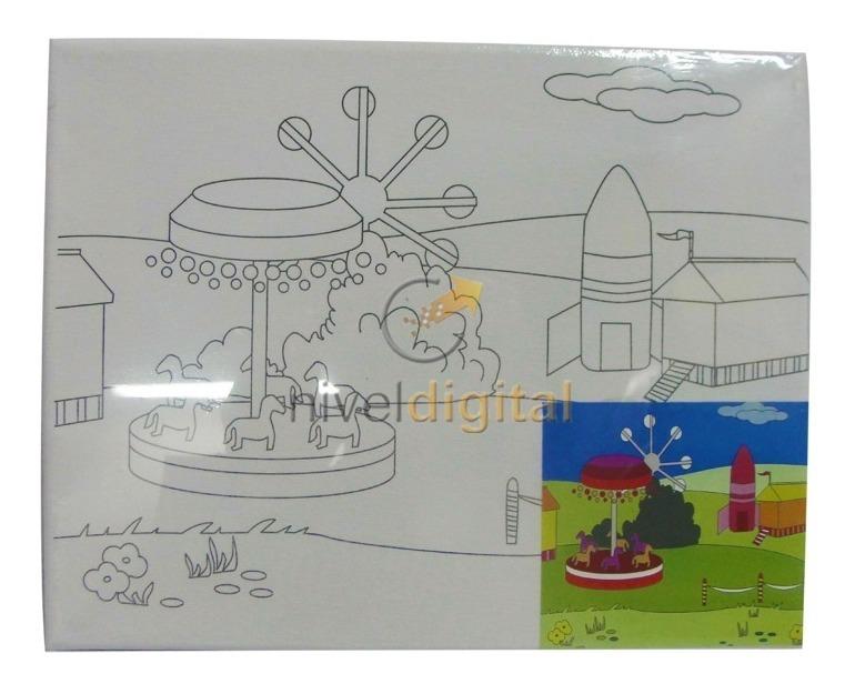 Set  De Lienzo Y Pinturas Acrílicas Para Pintar Niño Niña