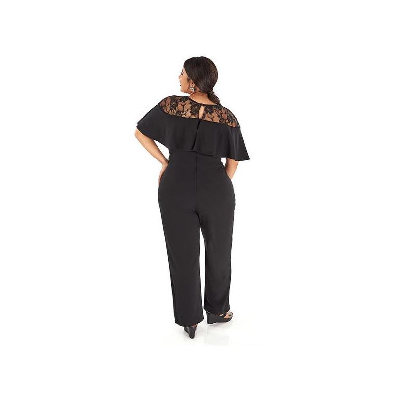 Vestido negro encaje  014406P