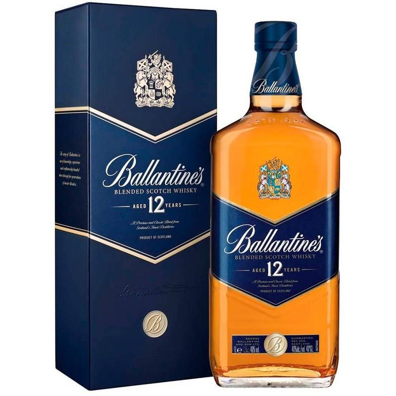 Bebida Whisky Ballantines  12 anos 1000ml Original