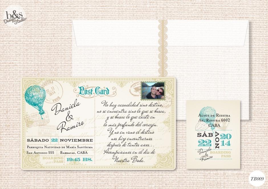 Invitación casamiento TB009