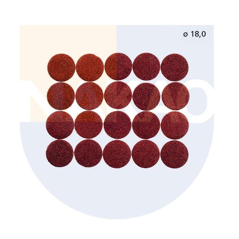 Conjunto de 20 Discos de Lixas 18 mm - 28983 - Proxxon