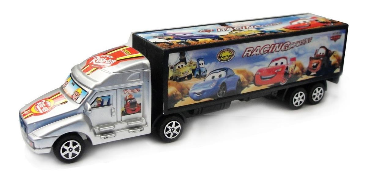 Camion Con Acoplado Cars Friccion 26 Cm Juguete Niño