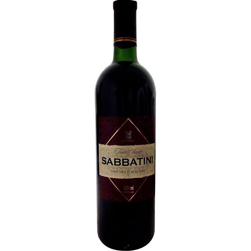 Vinho Tinto Suave Izabel/Bordô 720ml - Sabbatini