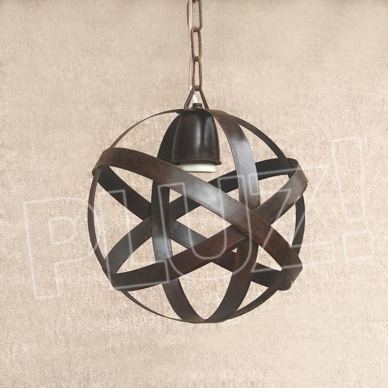 Listón Con 2 Lámparas Colgante Esfera Chica...