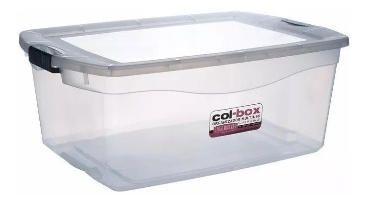 Caja Plastica Organizadora Apilable 48 Lts. X2 - Colombraro