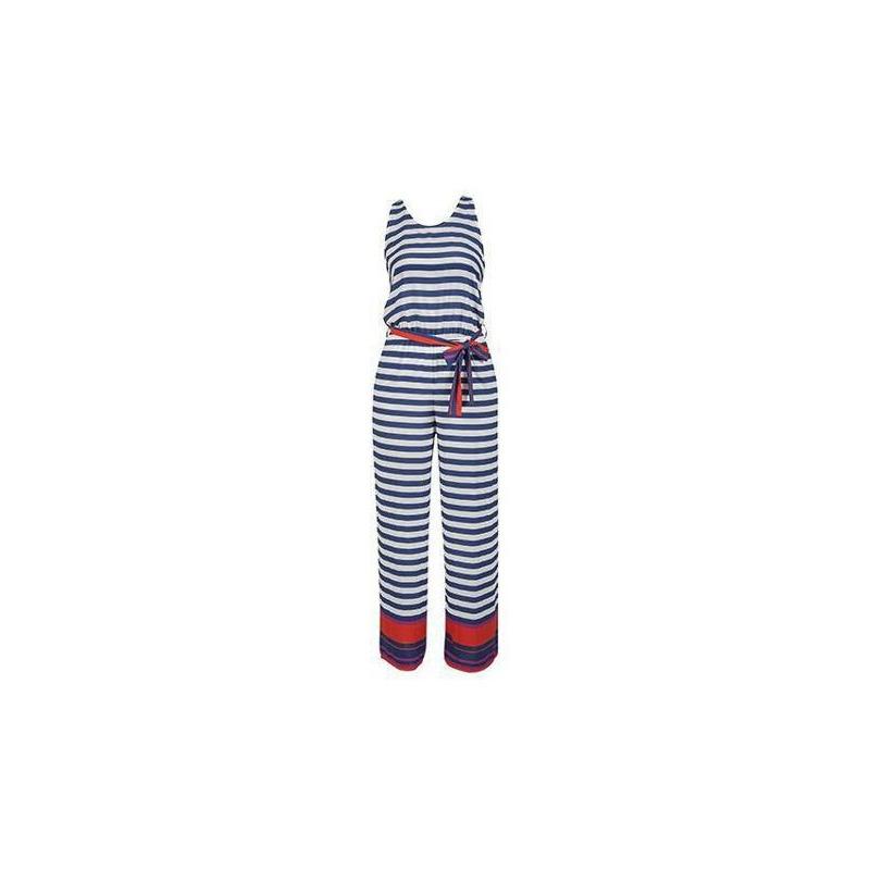 Conjunto a rayas azul con blanco 012472