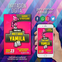 Busca Video Tarjeta Invitacion Virtual Fortnite A La Venta