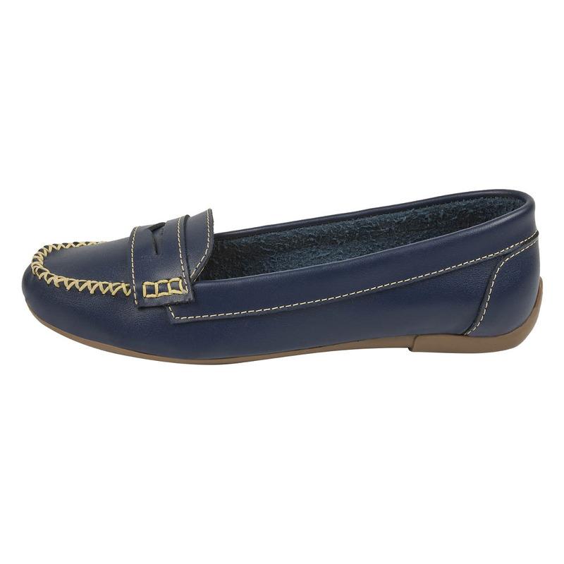 Flats azules con costuras  016666