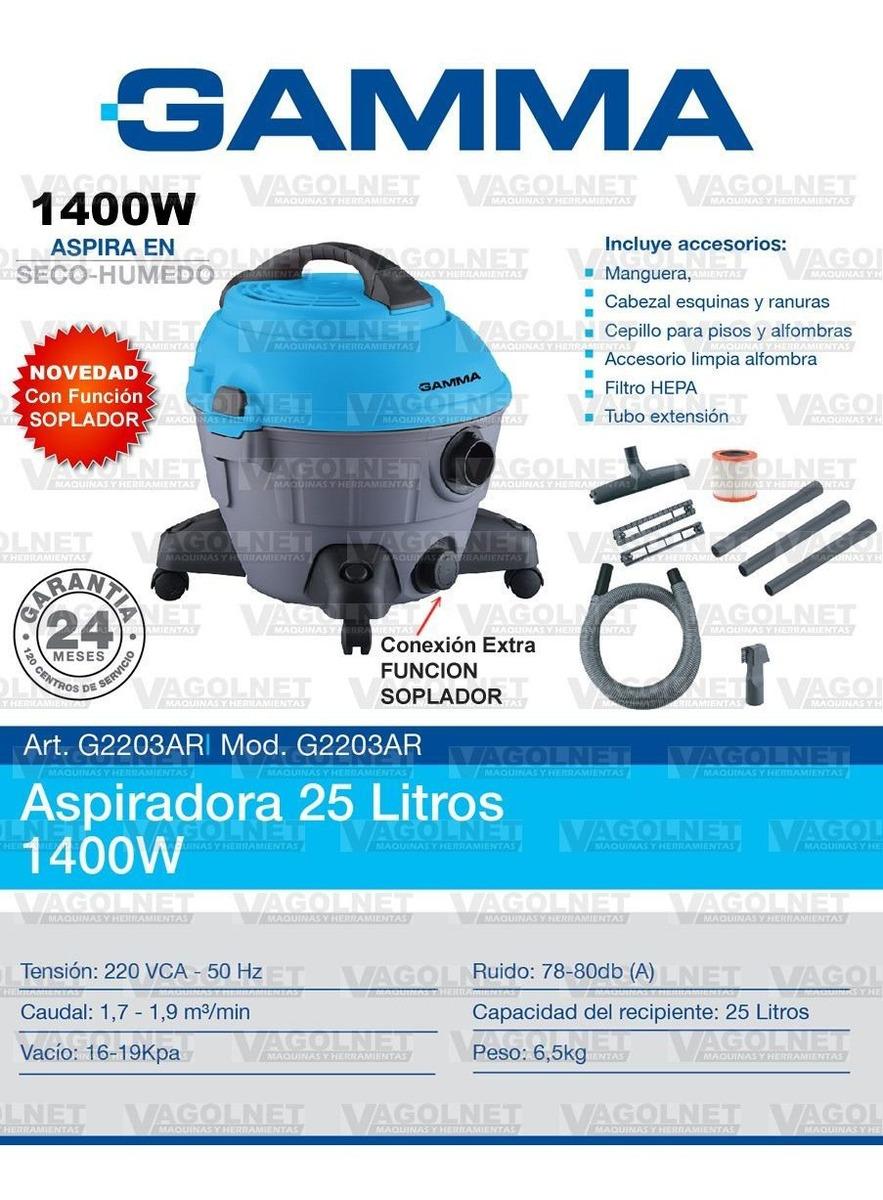 Aspiradora Gamma 25 Litros 1400w C/ Filtro Hepa + Soplador