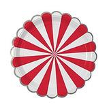 platos stripe rojos grandes fiestas