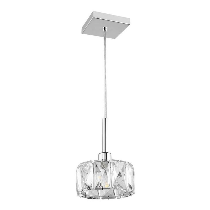 Colgante 1 Luz Mery Cristal Apto Led G9 Deco Moderno Pal