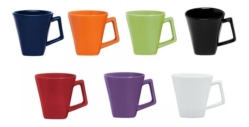Jarro Mini Mug Taza Cuadrado 200 Ml Loza Oxford Colores