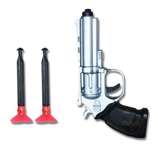Pistola Revolver Lanza Dardos Juguete Real 2 Dardos