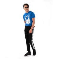 Pantalón deportivo negro franja blanca 017265