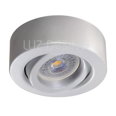 Spot Plafon Blanco Movil Circular Apto Led Gu10 Luz Desing