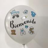 globo bienvenido bebe desinflado apto helio 12 pulgadas