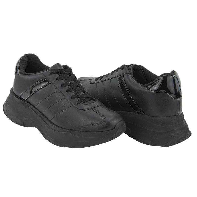 Sneakers Negro Liso 020284