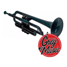 Trompeta Gala Plástico Ptr1100 Negro + Estuche + Soporte