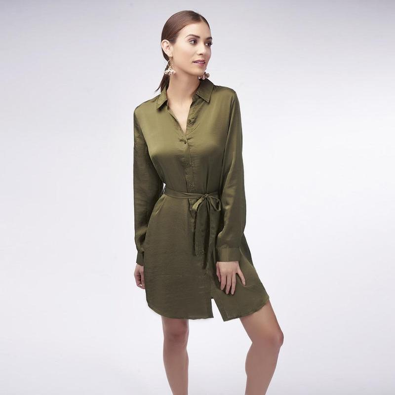 Vestido Verde Liso 017108